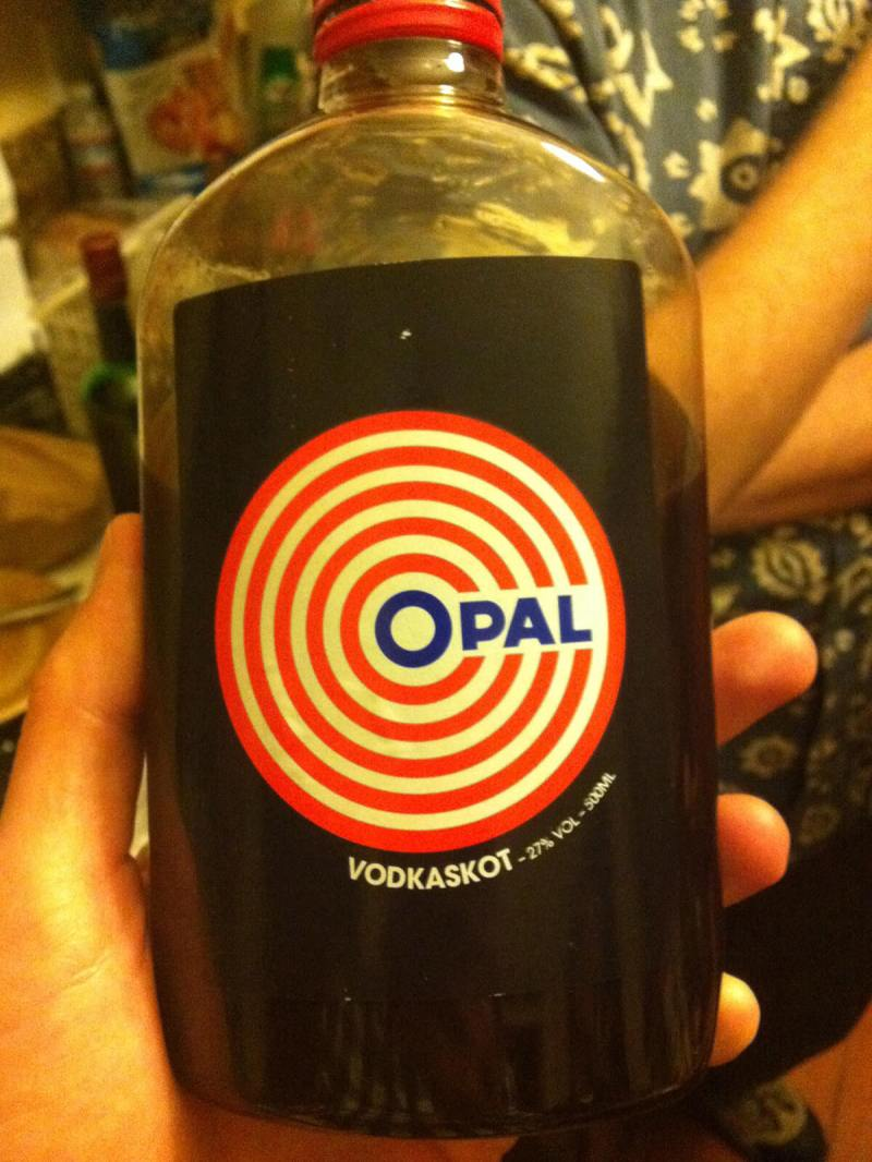 Opal is a unique type of vodka only found in Iceland