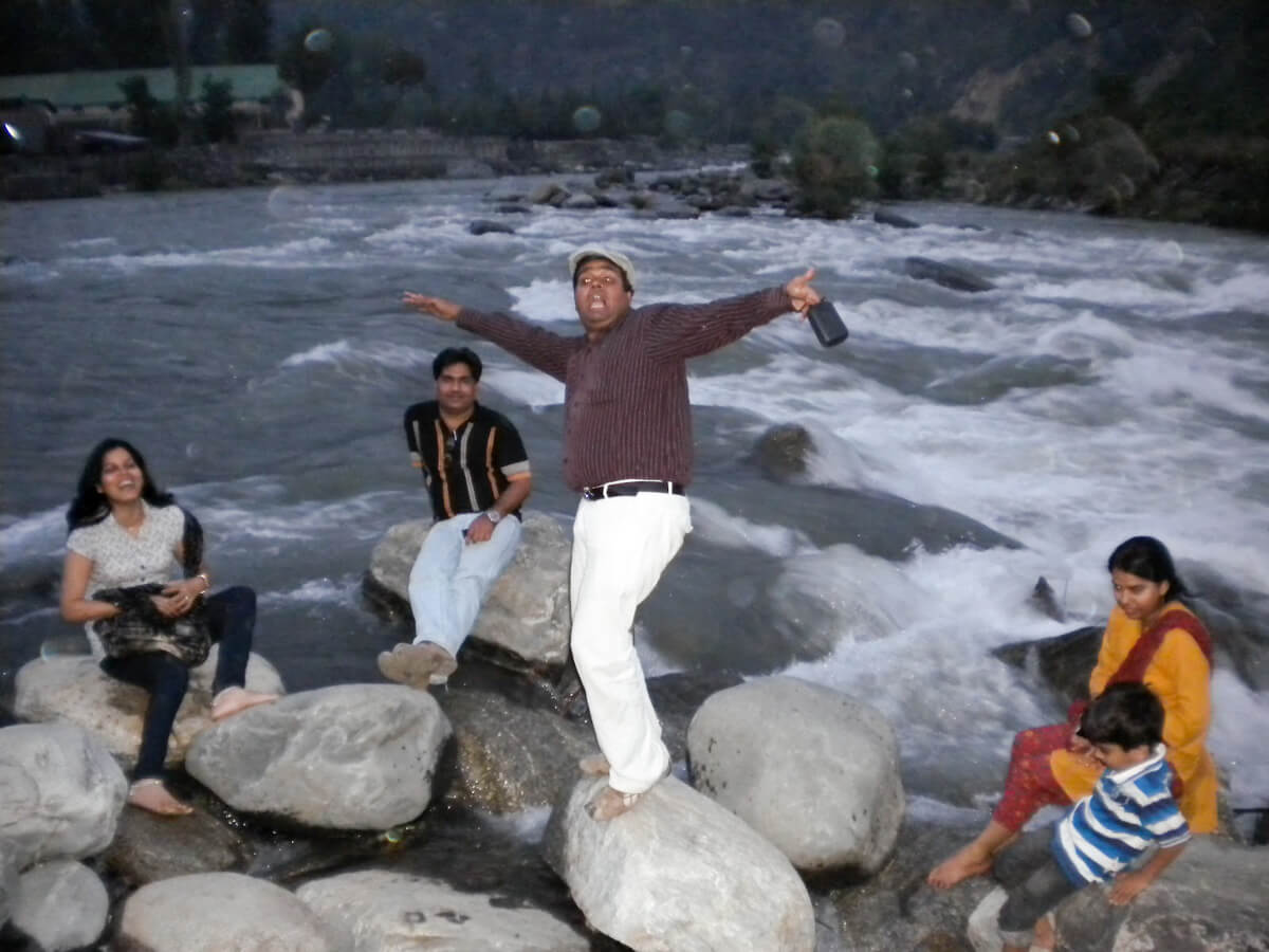 River Beas in Manali, India