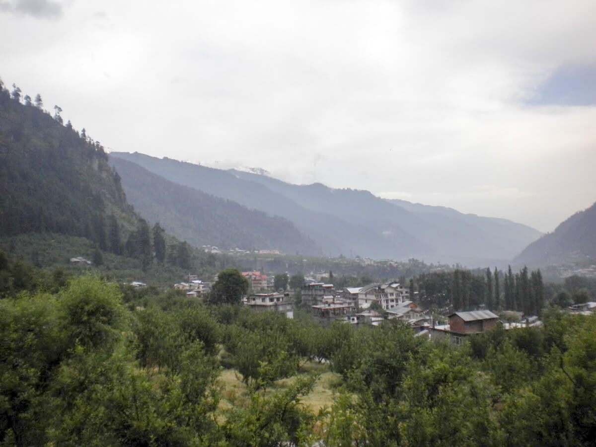 The beautiful Manali Valley in northern India