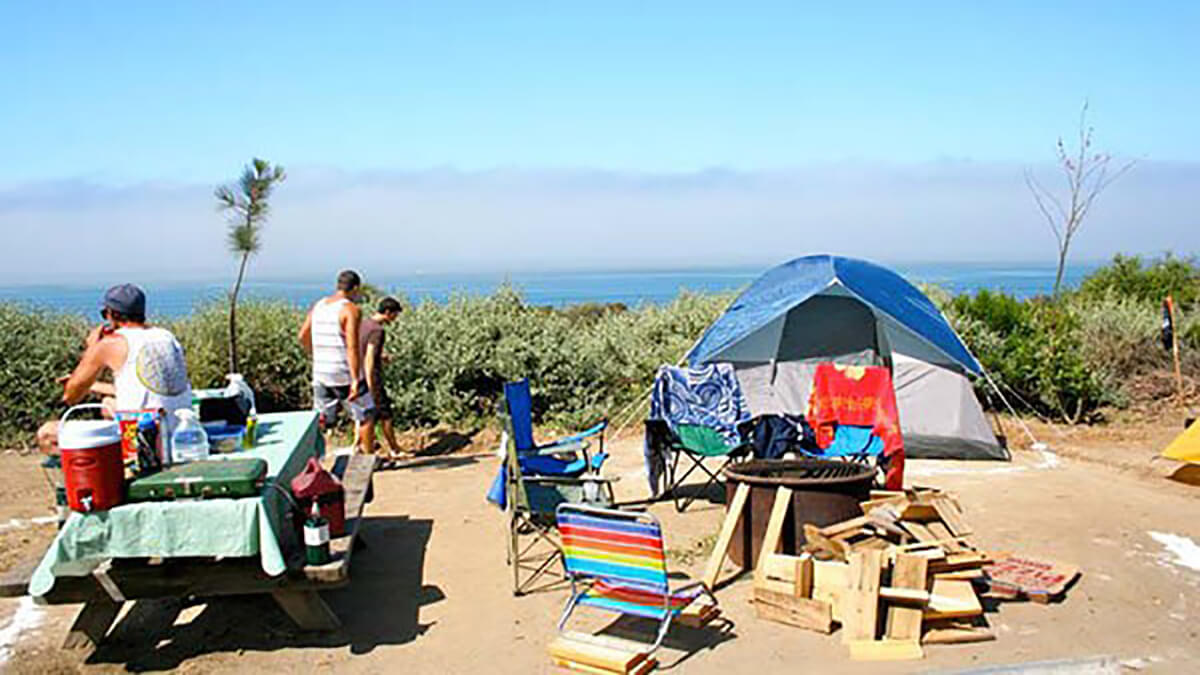 Camping in Anjuna Beach, one of the best places in India for camping