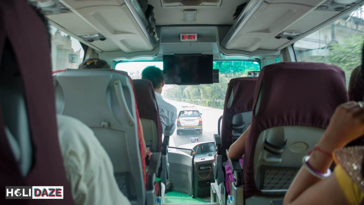 The DTC Delhi-Kathmandu express Mercedes bus comes with a police escort. This is what it's like to travel from Delhi to Kathmandu by bus.