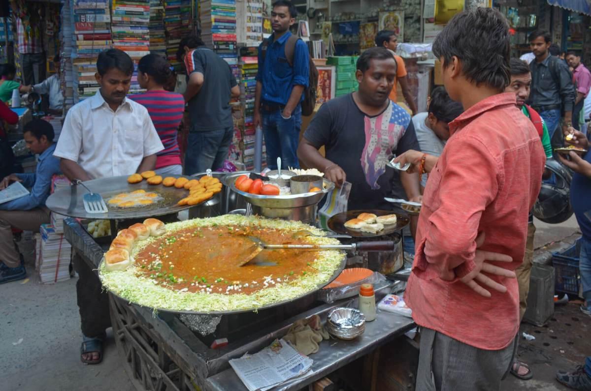 Street food vendor in Delhi, India