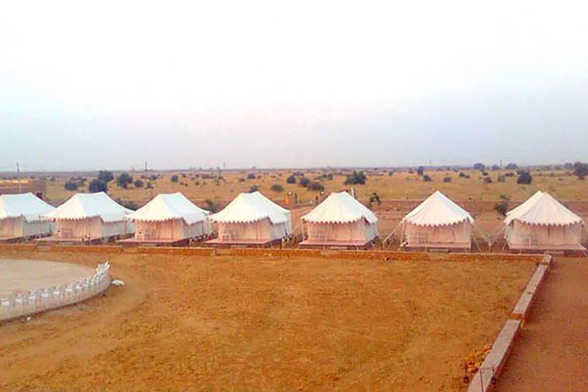 Camping in Jaisalmer, one of the top places for camping in India