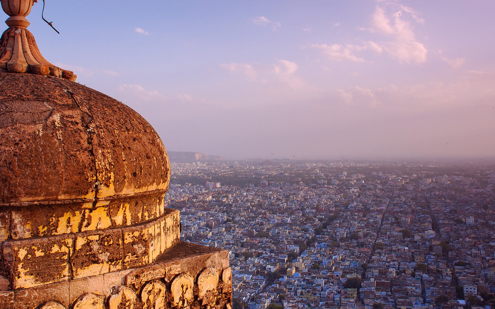 Watching the sunset from Nahargarh Fort is one of the obligatory things to do in Jaipur, India
