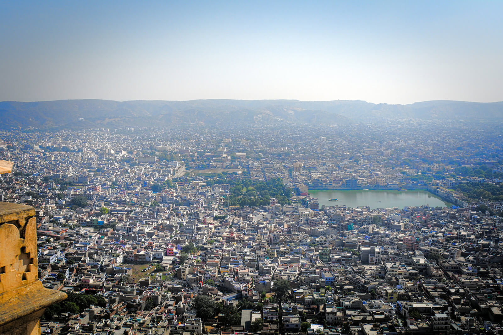 Enjoying the view from Nahargarh Fort is one of the obligatory things to do in Jaipur, India