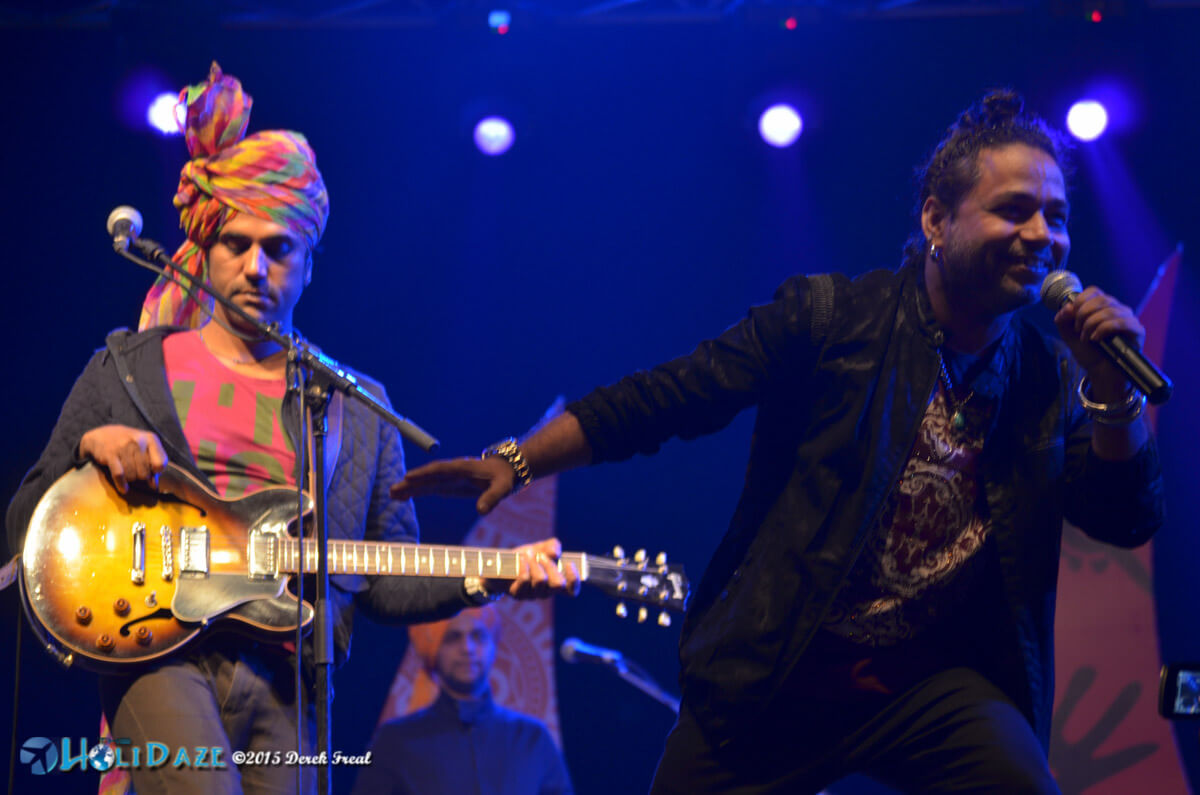Kailash Kher performing at the Pushkar Camel Fair 2015, part of The Sacred Pushkar event