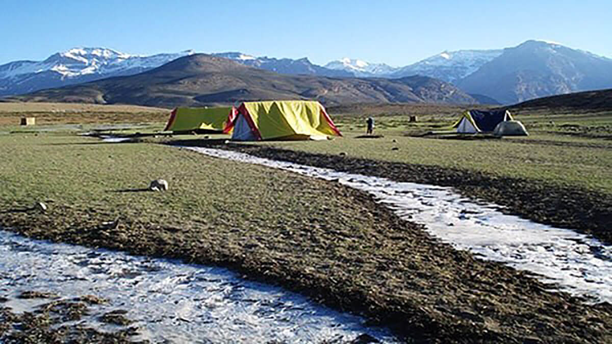 Camping in Spiti Valley, one of the top places in India for camping