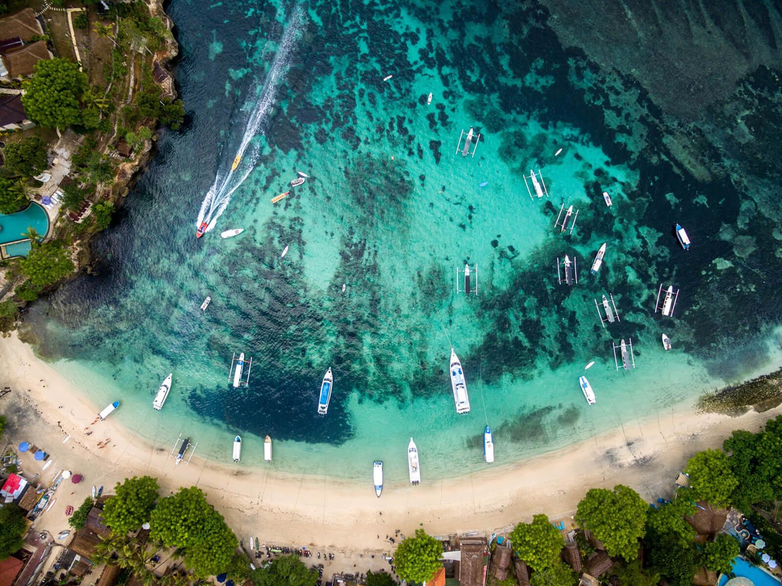 Bali beach and boats