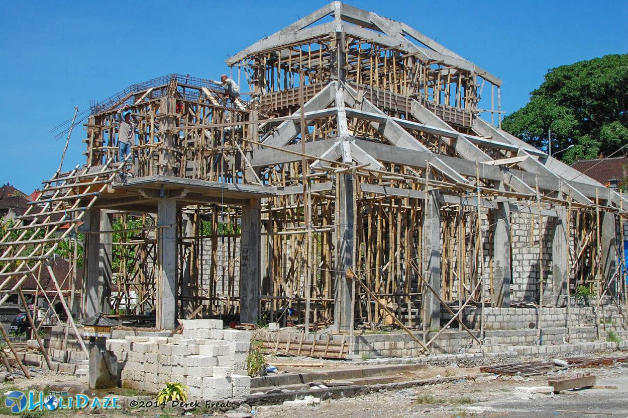 Beautiful construction in Tanglad, a mountaintop village on the island of Nusa Penida, Indonesia
