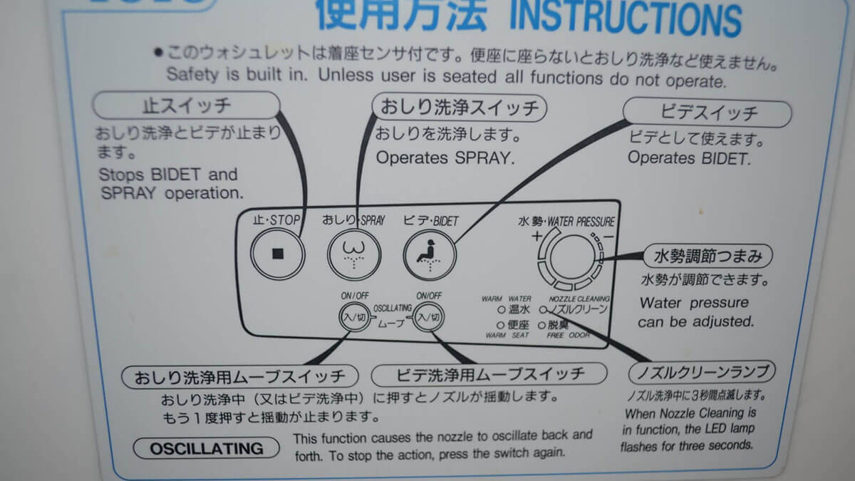 Instructions are required for Japanese toilets and bidets but sometimes they are a bit confusing...or just downright hilarious. Thankfully this one came with an English translation.
