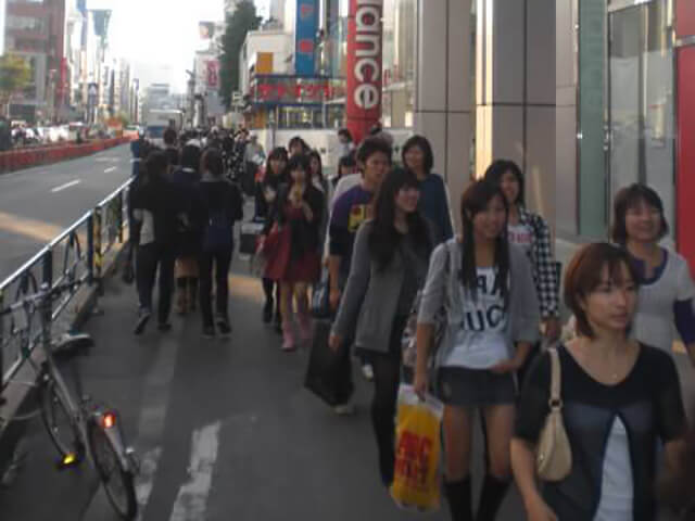 The streets of Harajuku, Tokyo, are always busy
