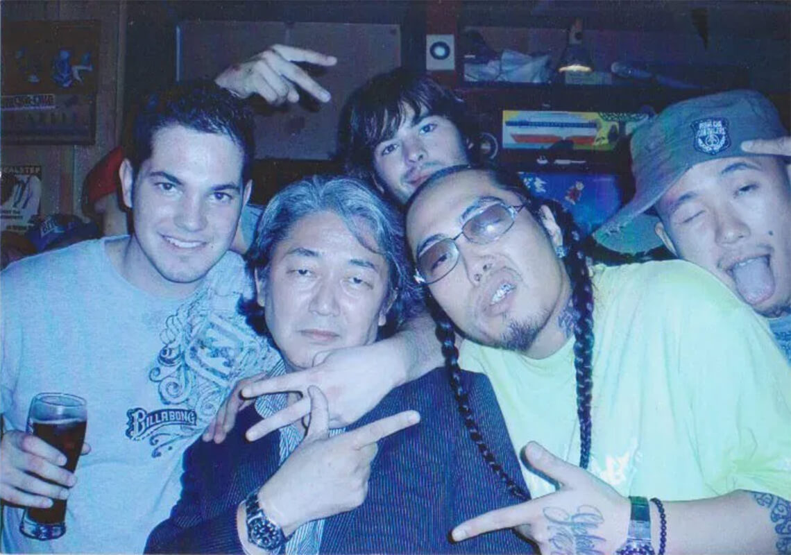 Derek Freal partying with D.O, head rapper of the Japanese hip-hop group Motha Fuckerz