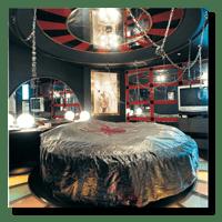 An oppulent love hotel room in Tokyo, Japan