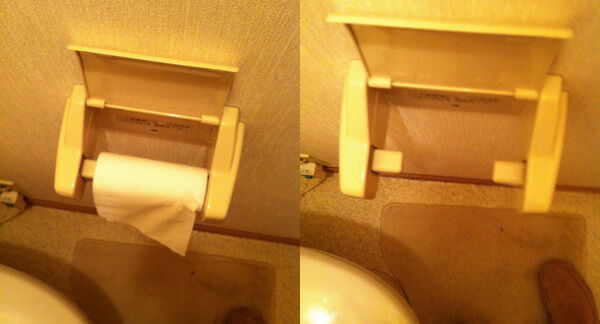 The amazing Japanese toilet paper roll holder
