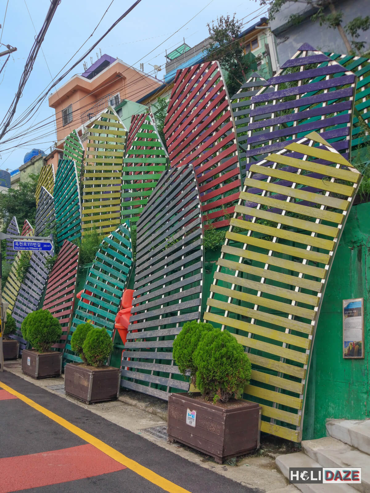 This piece of art at Gamcheon Culture Village is known as Wriggling Village