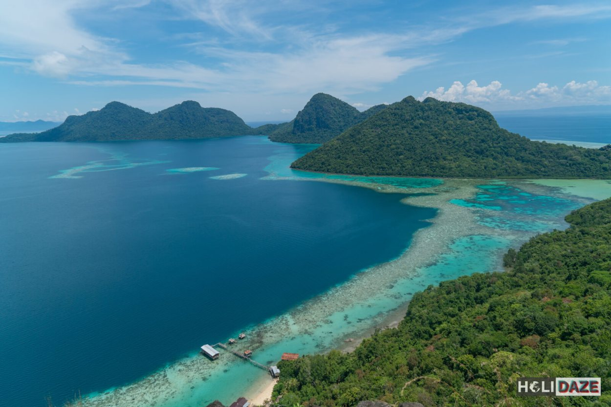 The view from Bohey Dulang in Sabah, Malaysia