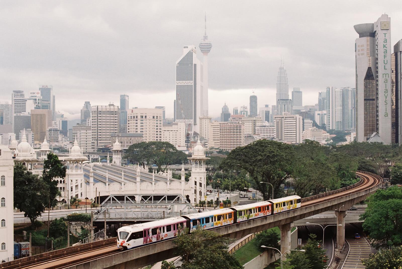 The LRT in Kuala Lumpur, Malaysia