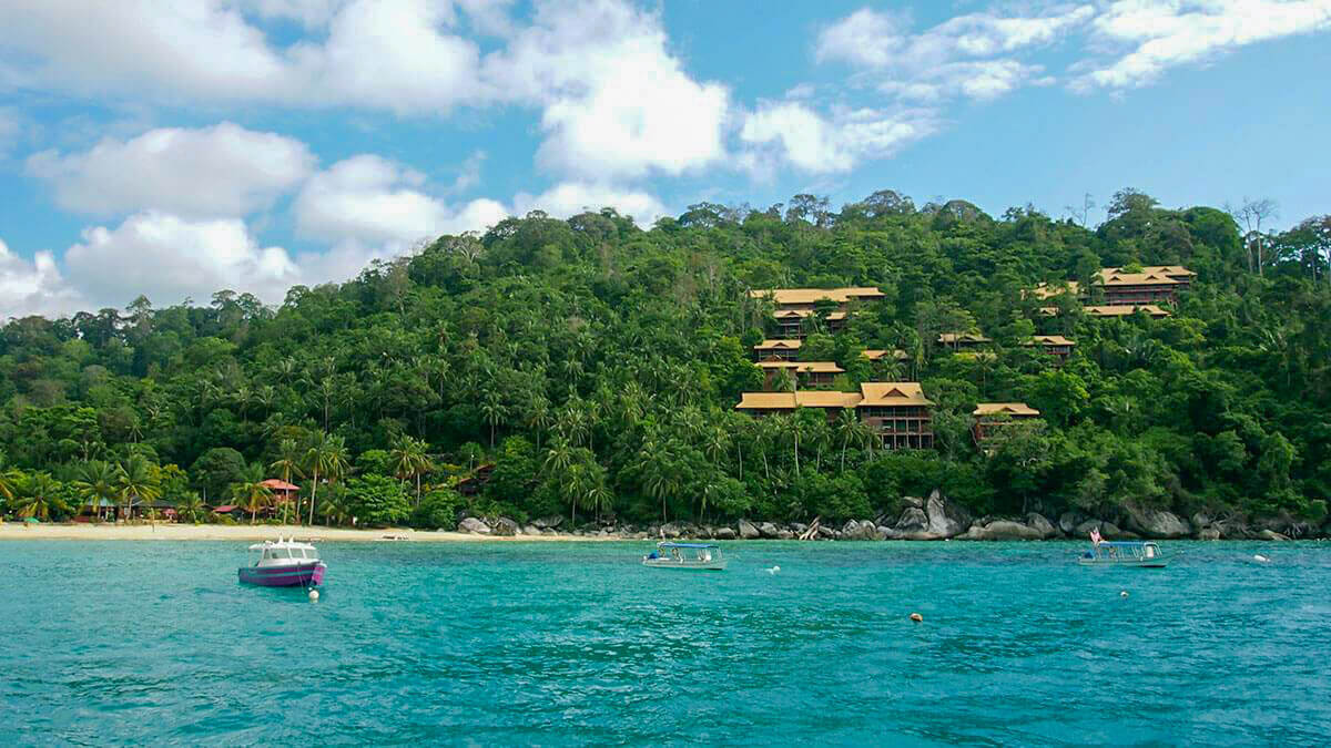 The abandoned before it was even completely resort in Salang, Tioman Island, Malaysia