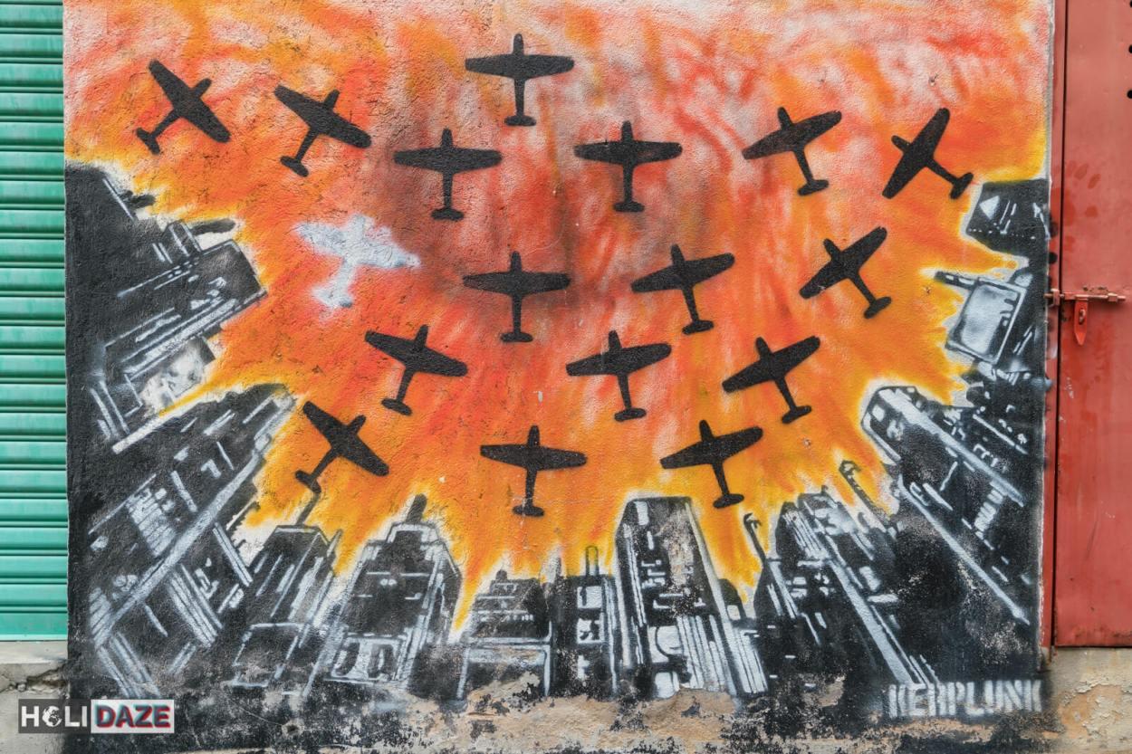 The best street art in Malaysia is Laman Seni 7 in Shah Alam, next to Kuala Lumpur, Malaysia