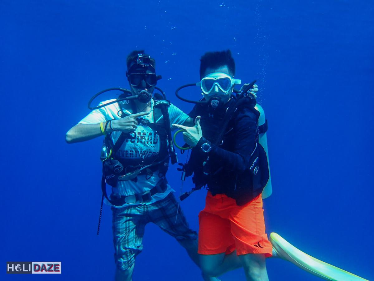 Scuba diving Sipadan Island with friends was a great place to practice our underwater photography