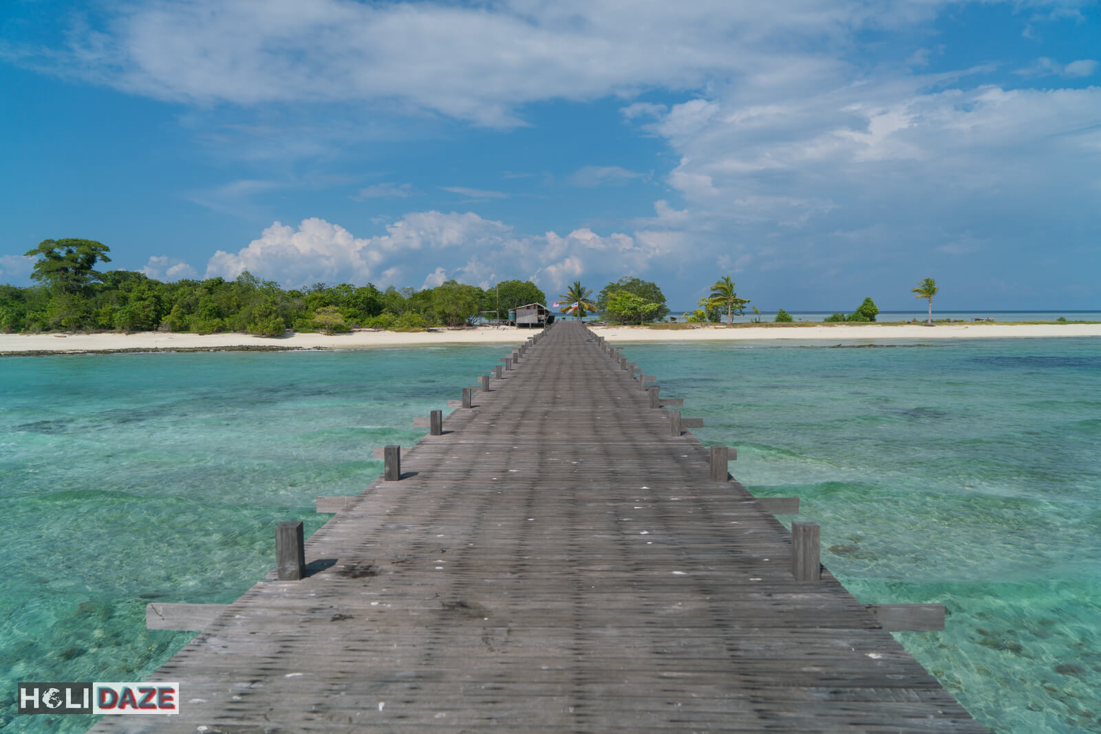 The road to paradise is paved with wood, not gold. Welcome to Timba Timba Island off the coast of Semporna, Sabah.