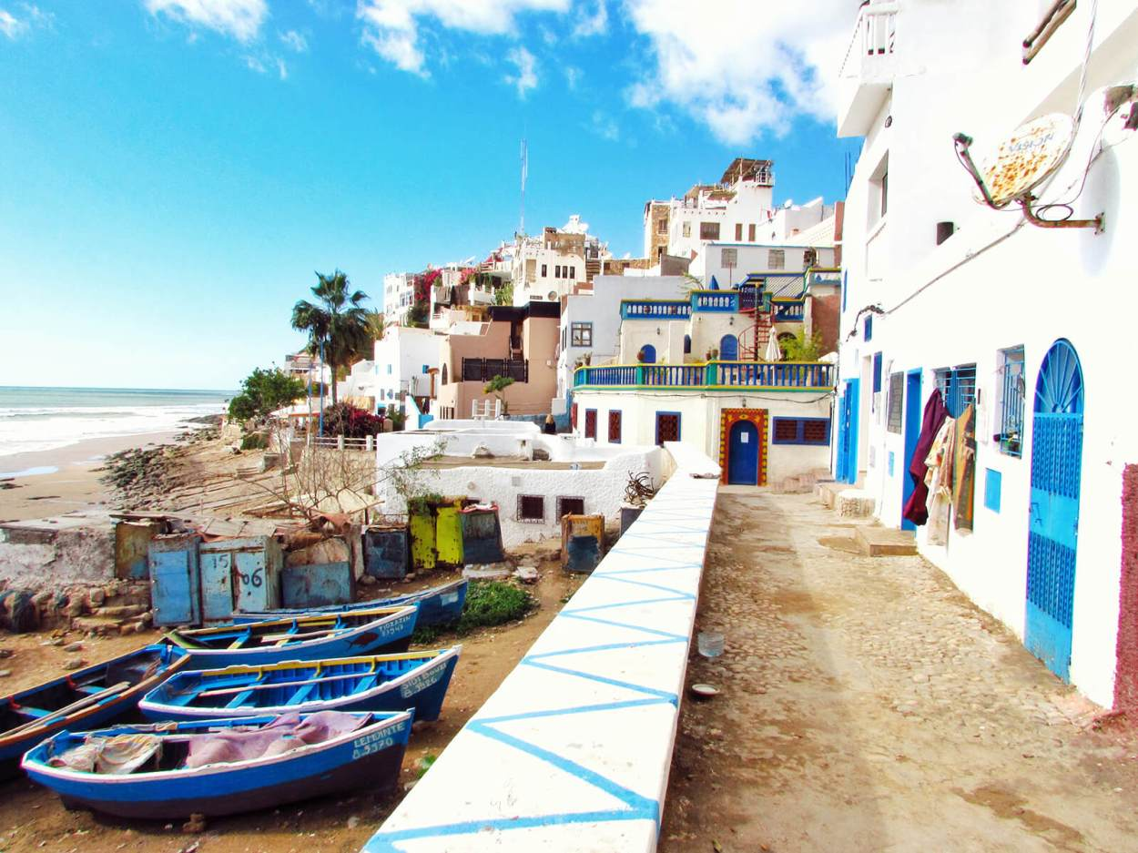 Taghazout fishing village on Morocco's Atlantic coast is known for its surf beaches