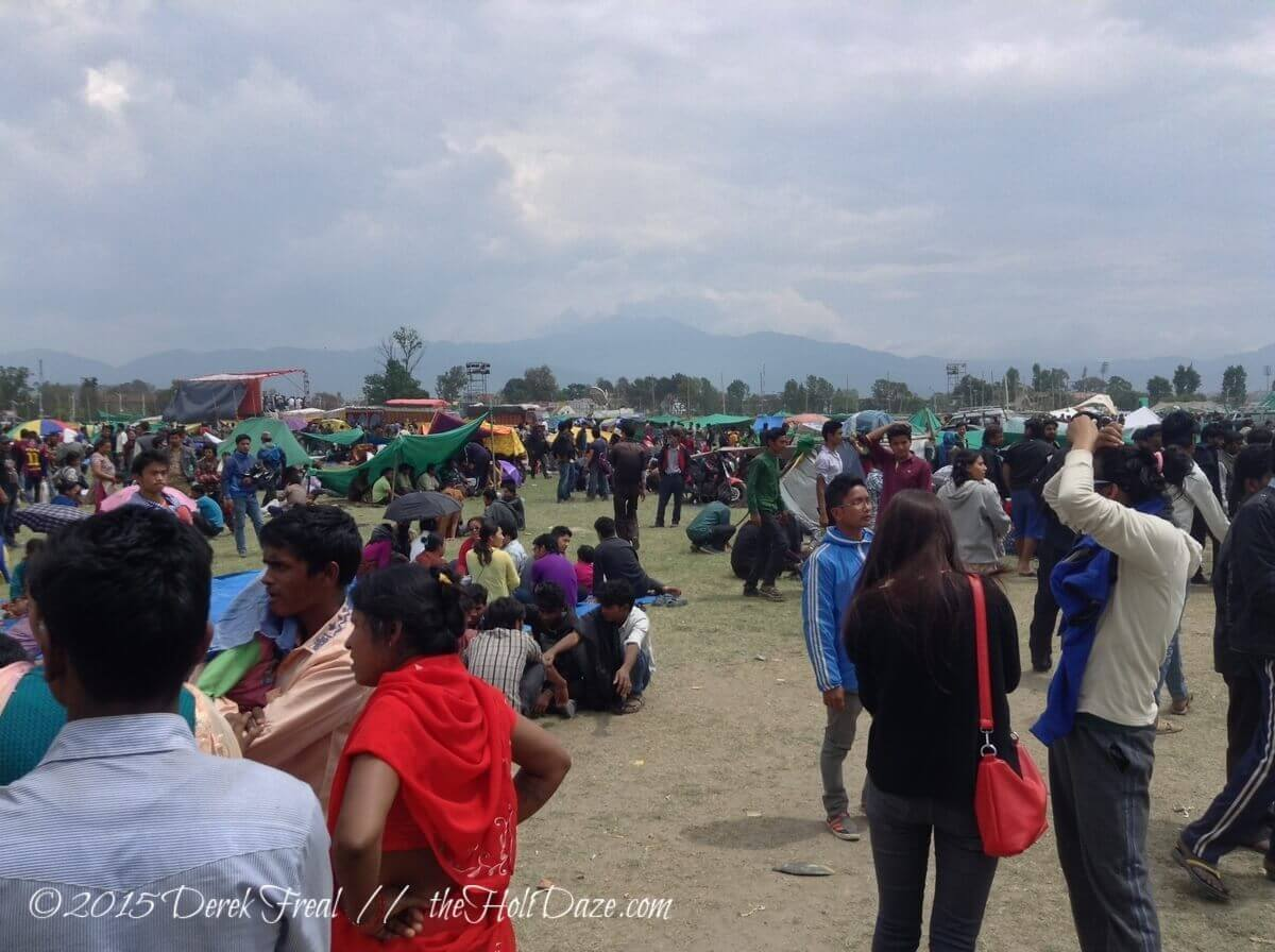 Hundreds of thousands of Kathmandu locals were camped out in parks in and around town after the Nepal earthquake. Even if their home was still standing, everyone was too afraid to sleep in it.