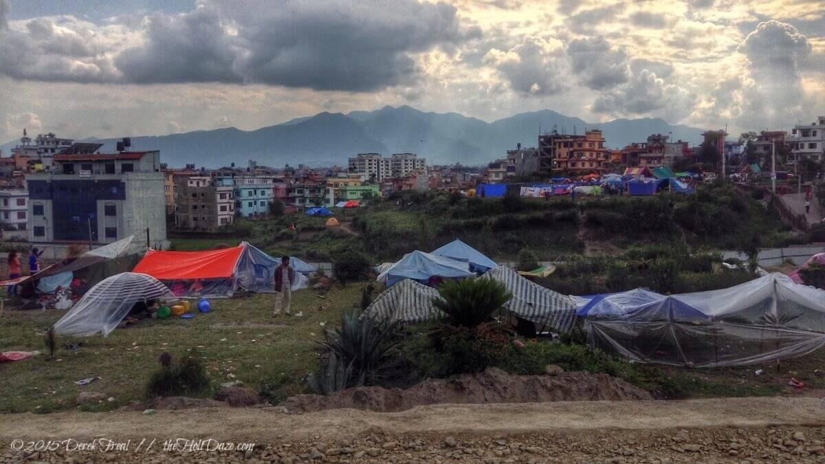 Kathmandu two days after the Nepal earthquake.