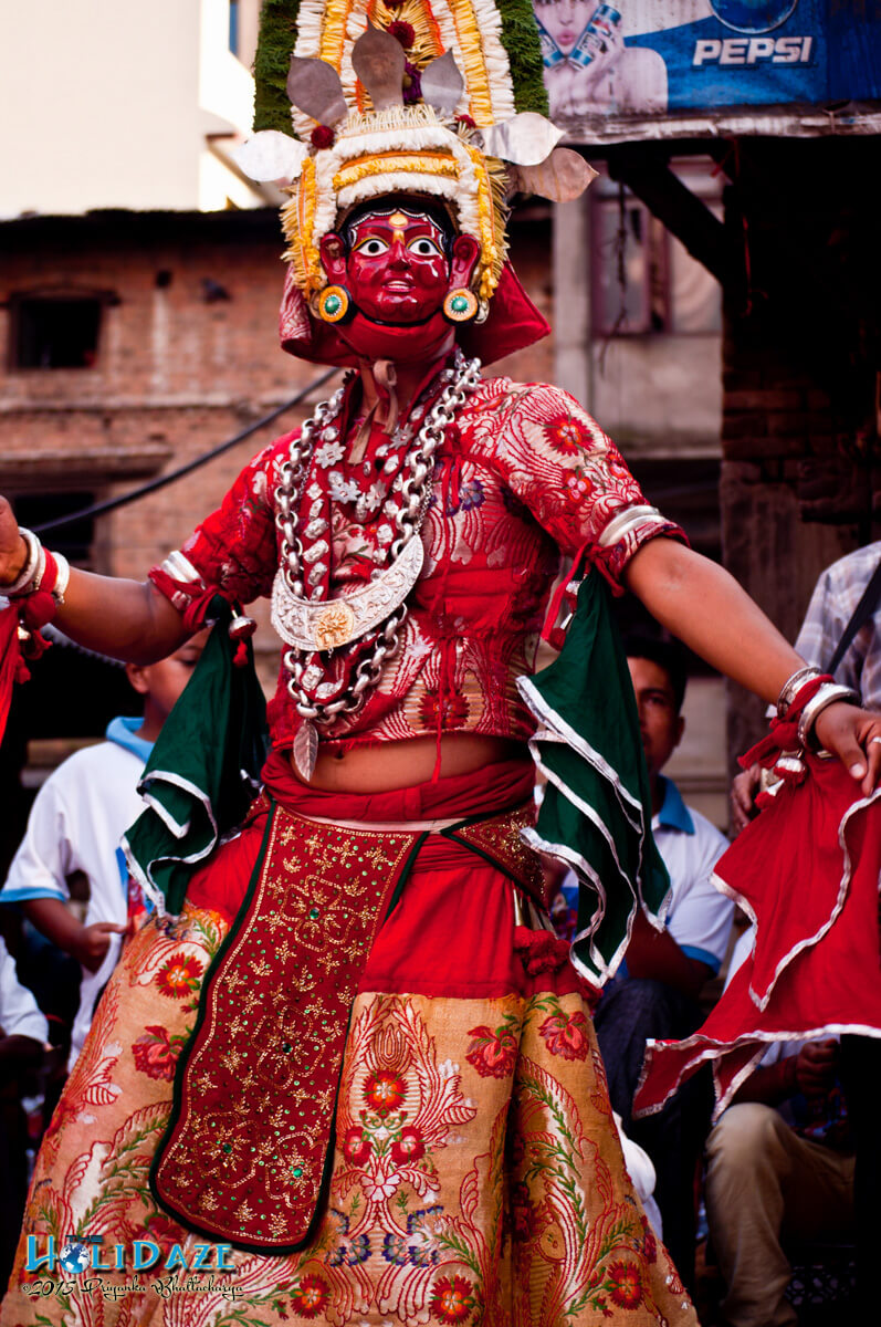 Lakhae dancer at the Indra Jatra festival 2015