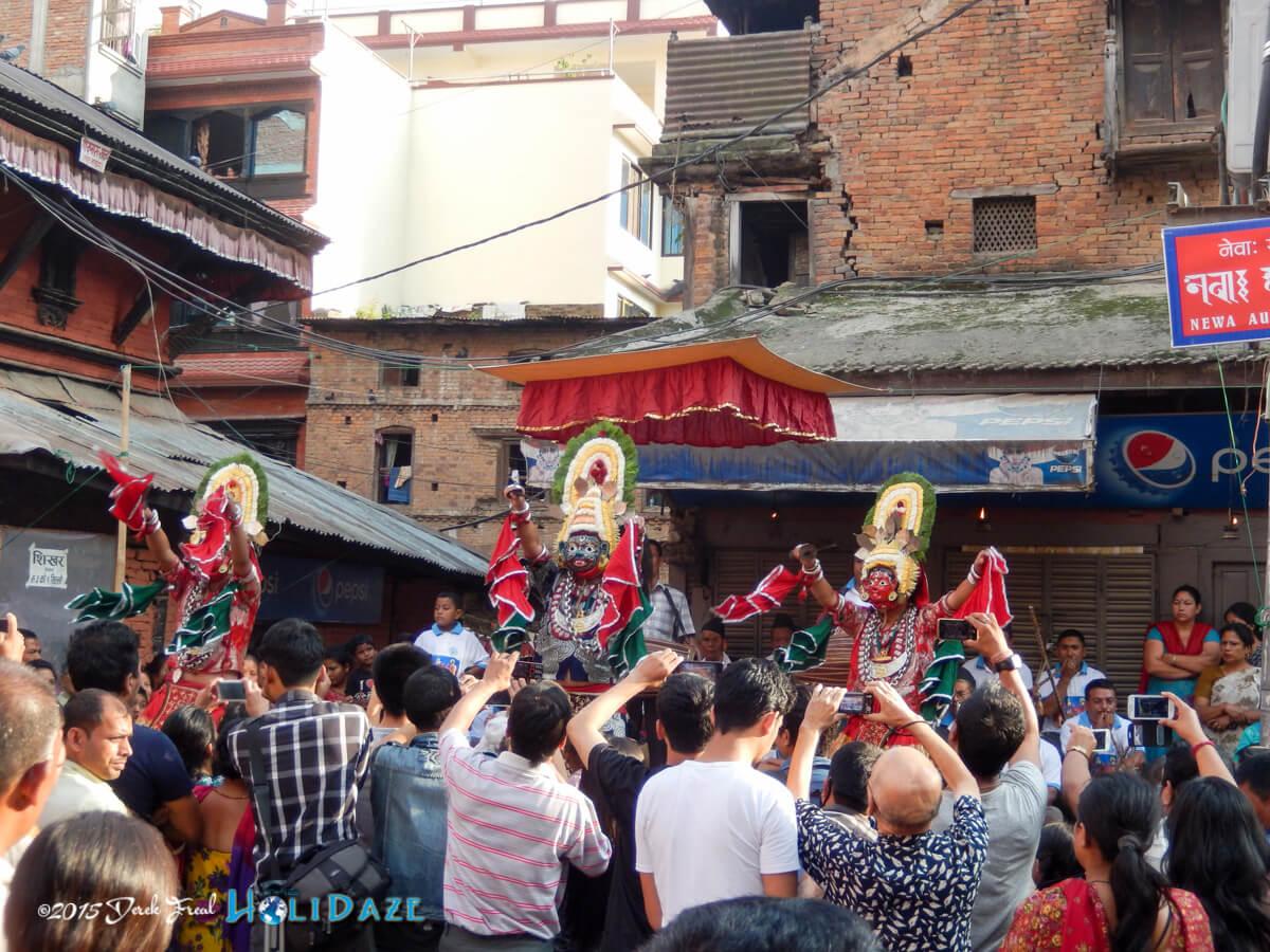 Lakhae dancers at the Indra Jatra festival 2015