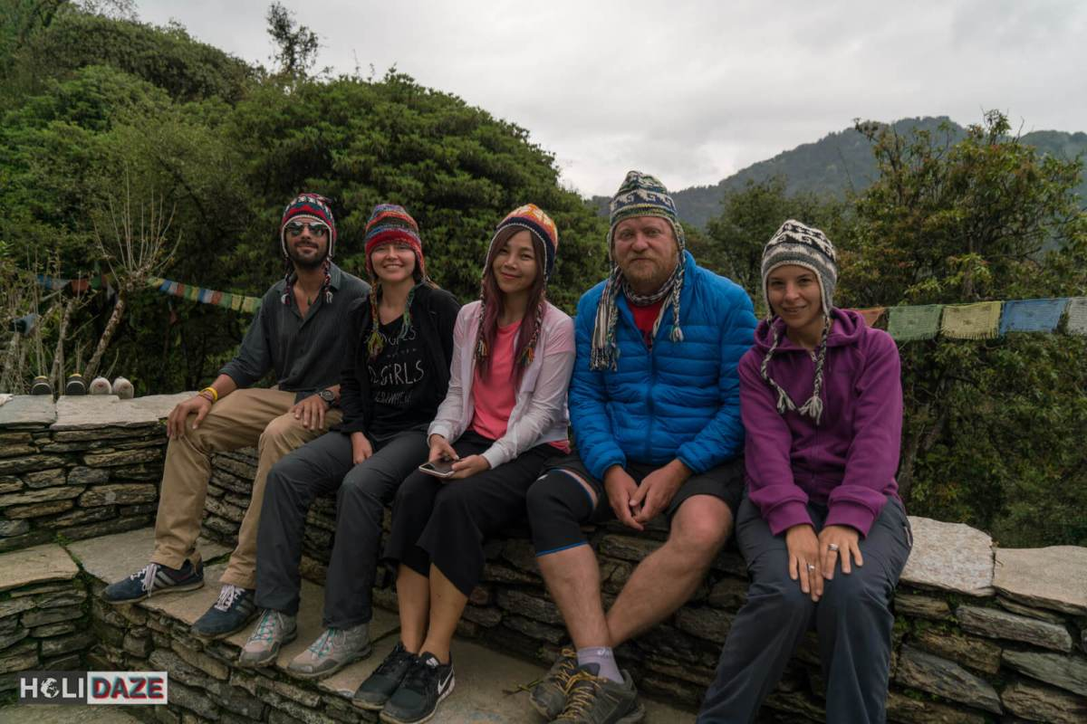 We all purchased Nepalese wool hats while trekking Annapurna Sanctuary for 400 rupees or $4 each