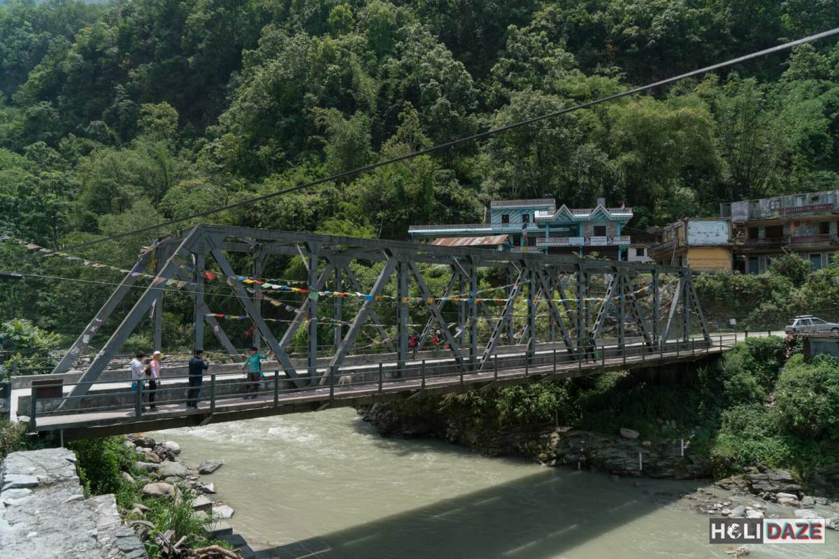 New Bridge over the Modi River in Birethanti, part of the Annapurna Conservation Area of Nepal