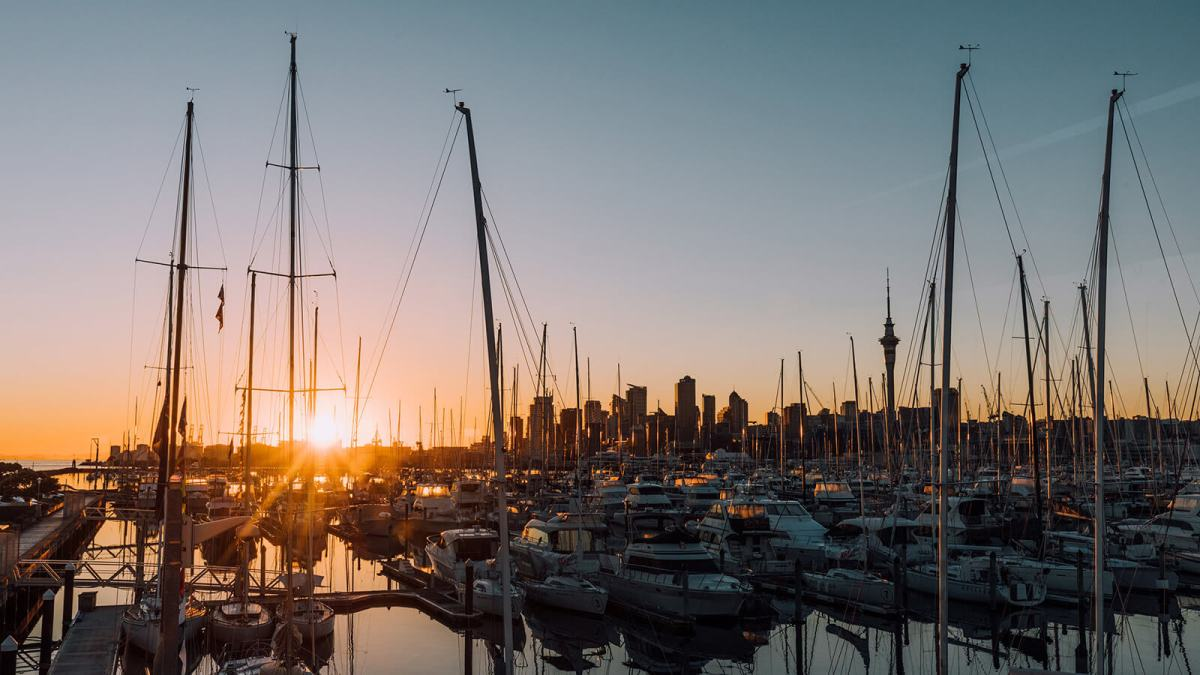 Auckland Harbour is great for people-watching, photography or luxury dreaming -- and one of the many free things to do in Auckland, New Zealand