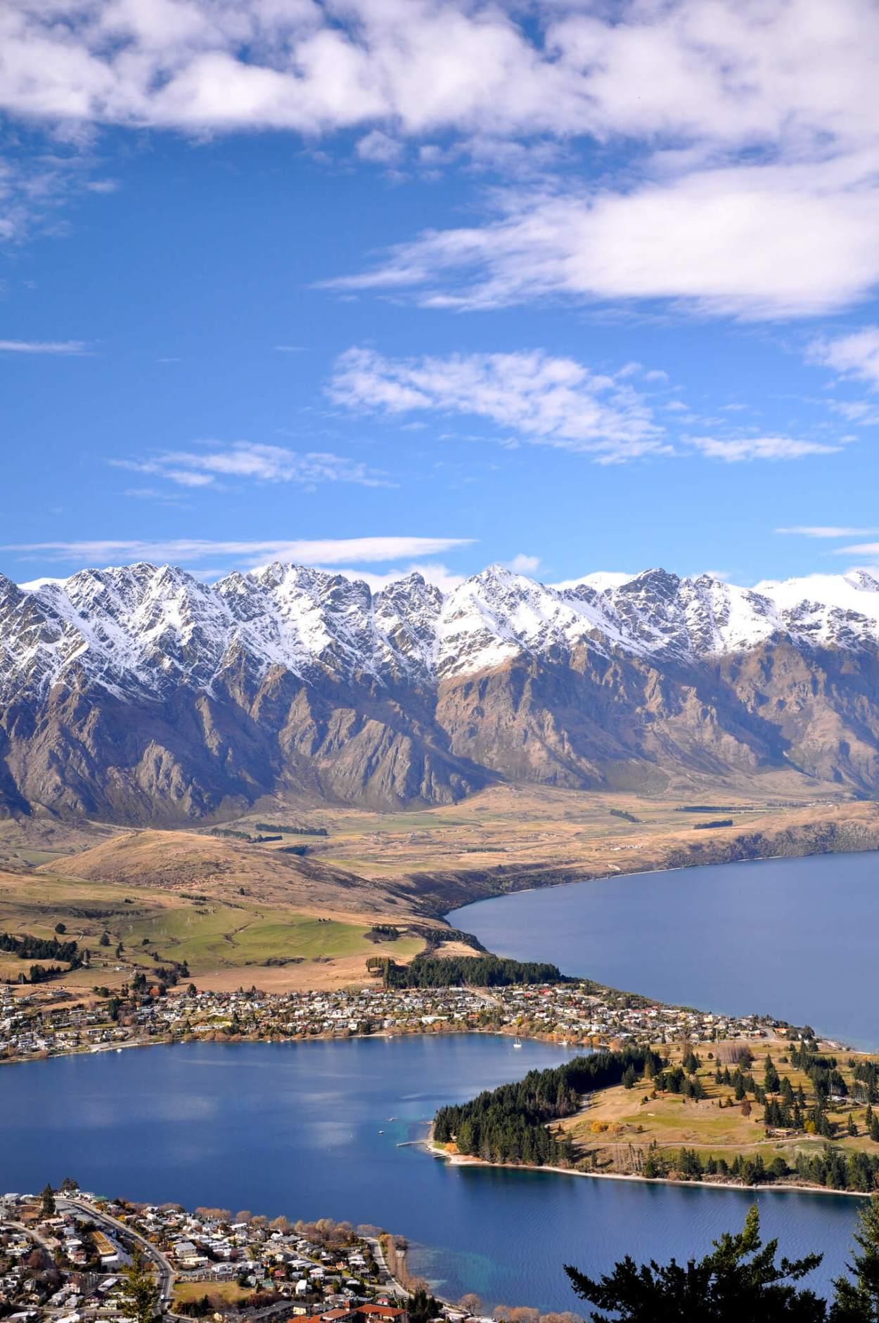 Amazing view of Queenstown, New Zealand