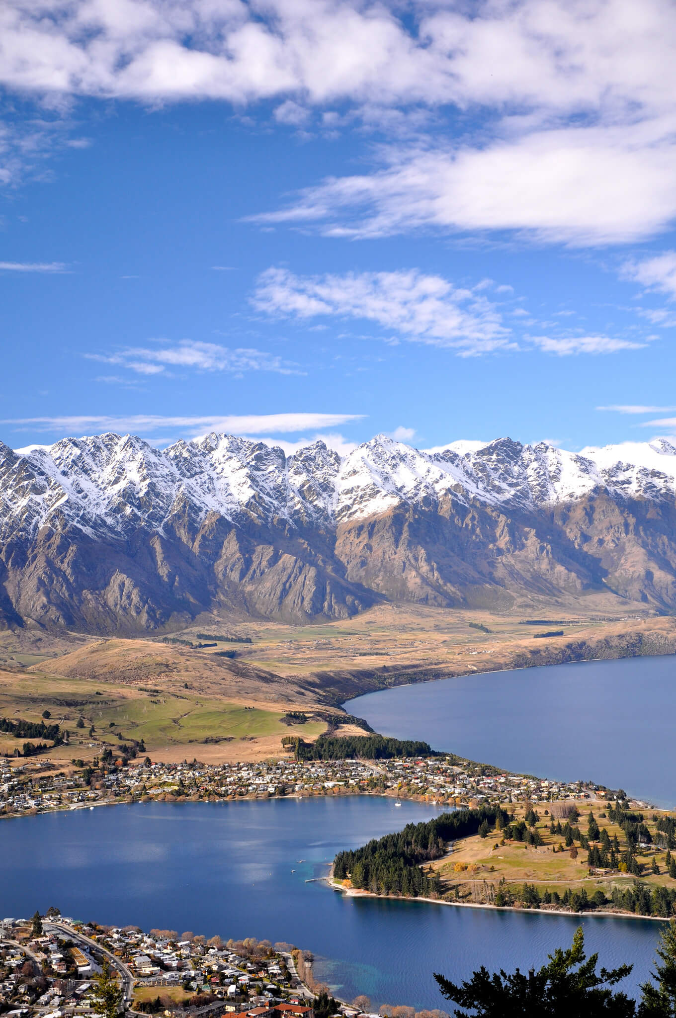 Amazing view of Queenstown, New Zealand