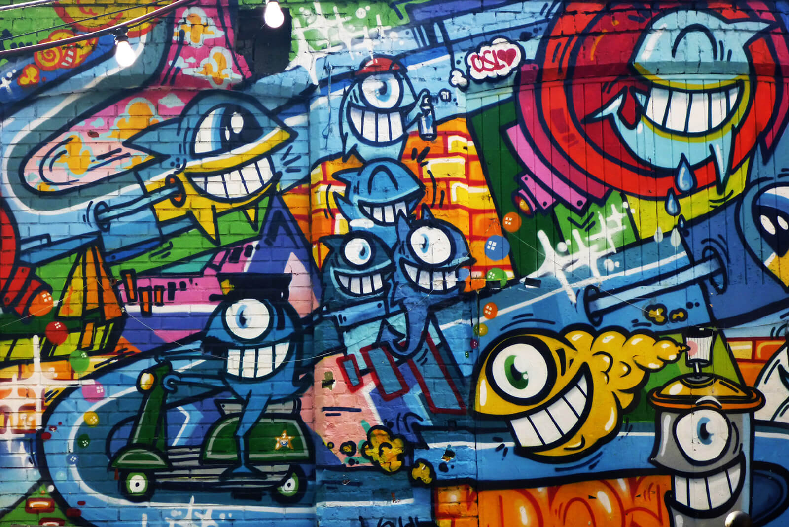 Experience the colorful and offbeat Oslo street art scene