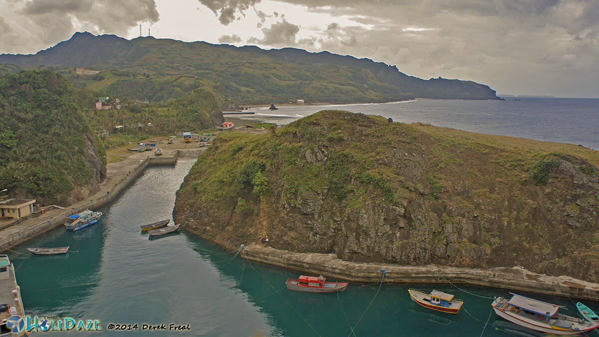 Boat Shelter Port on Batan Island in the Philippines