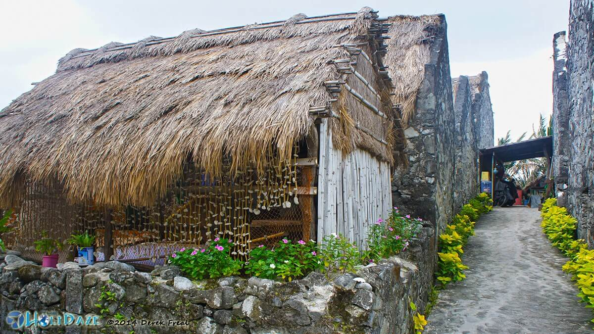 The houses of Chavayan village on Sabtang island, Batanes, in the northern Philippines