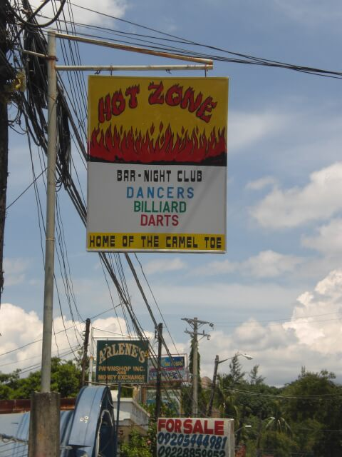 Life in Subic Bay, Philippines revolves around bars and whorehouses, such as The Hot Zone