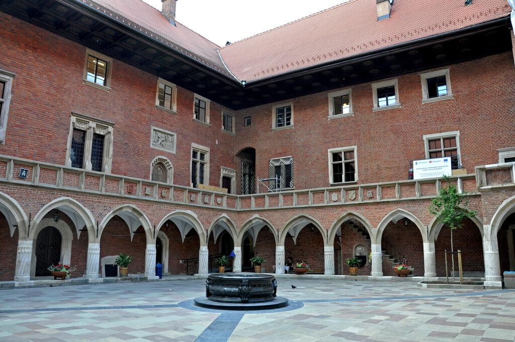 The courtyard of Collegium Maius in Krakow, Poland