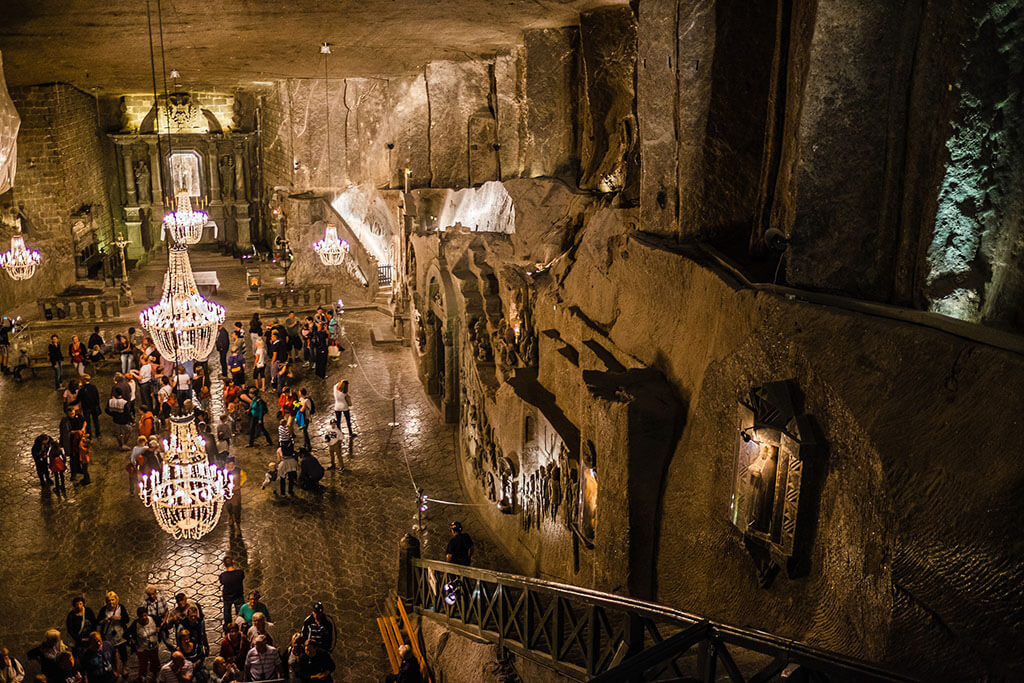 Wieliczka salt mine near Krakow, Poland, a UNESCO World Heritage Site and one of the top 5 caves in the world