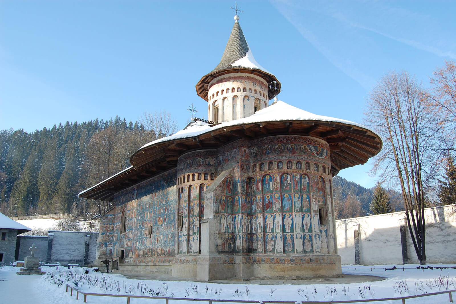 The elaborate, intricately painted monasteries in Bucovina, Romania are a must visit destination for fans of history, art or the Byzantine empire