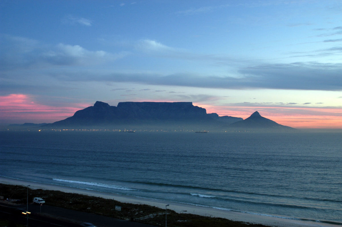 Table Mountain in South Africa, one of the new seven wonders