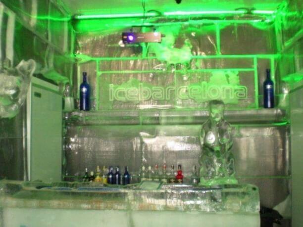 Icebarcelona ice bar in Barcelona, Spain