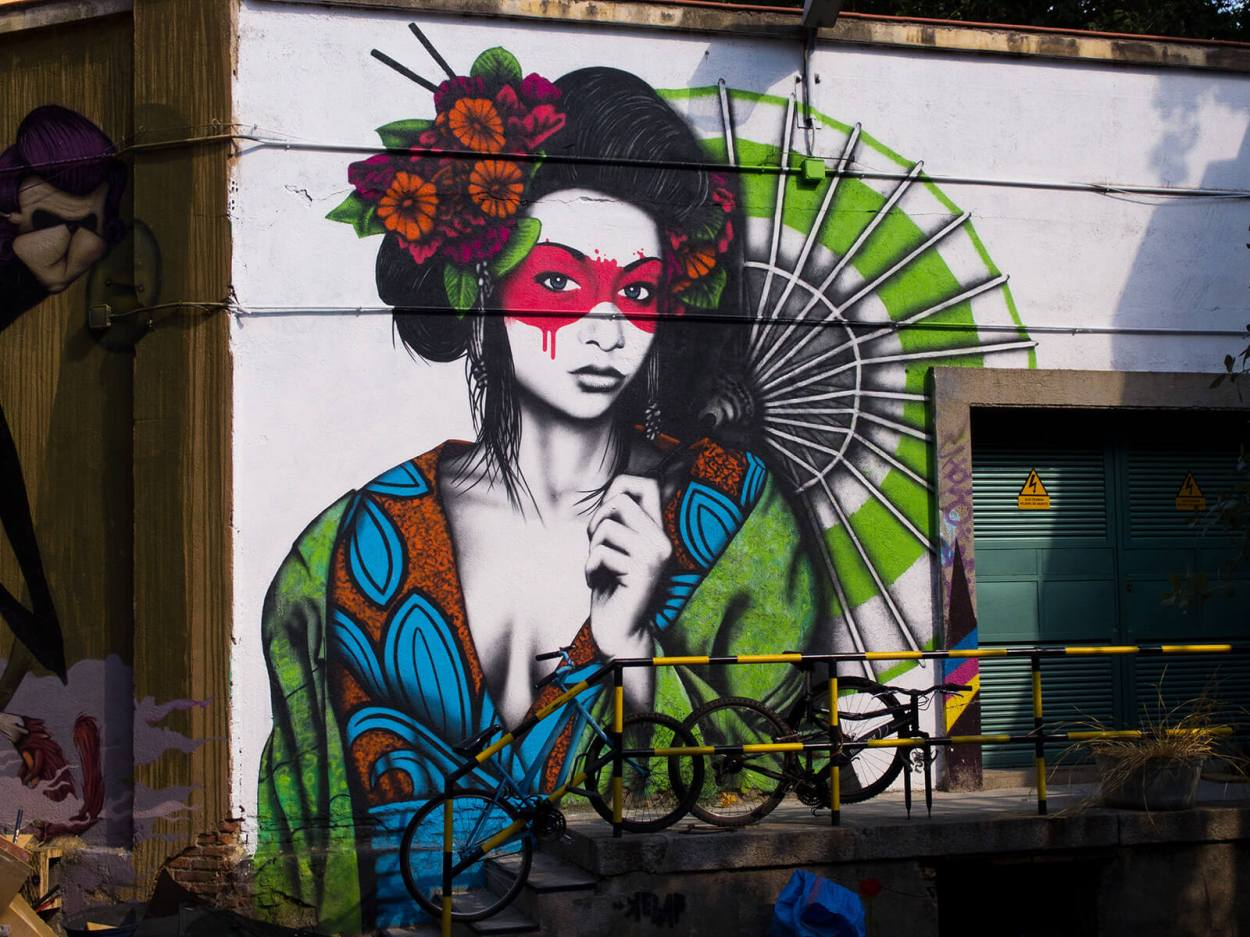 Be sure to check out some of the awesome street art in Madrid, Spain