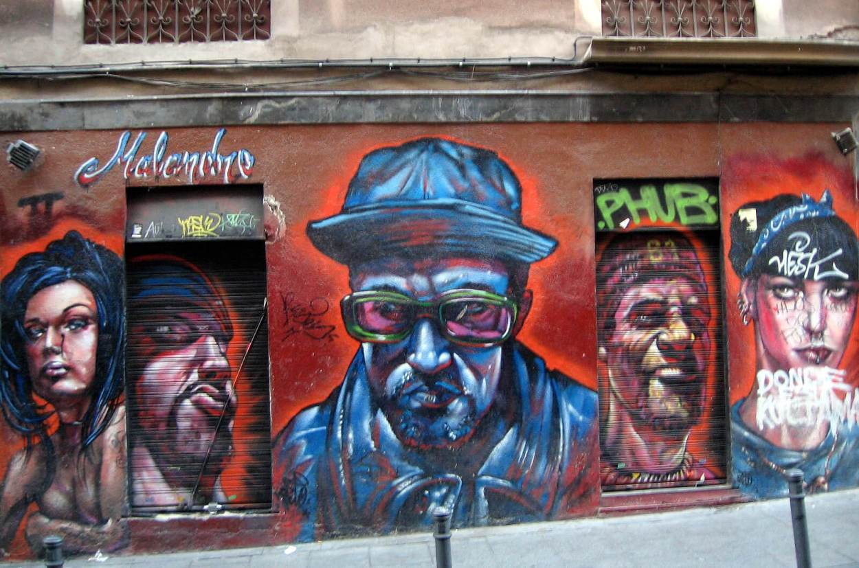 Street art in Malasaña, Madrid by Xurxo Martinez