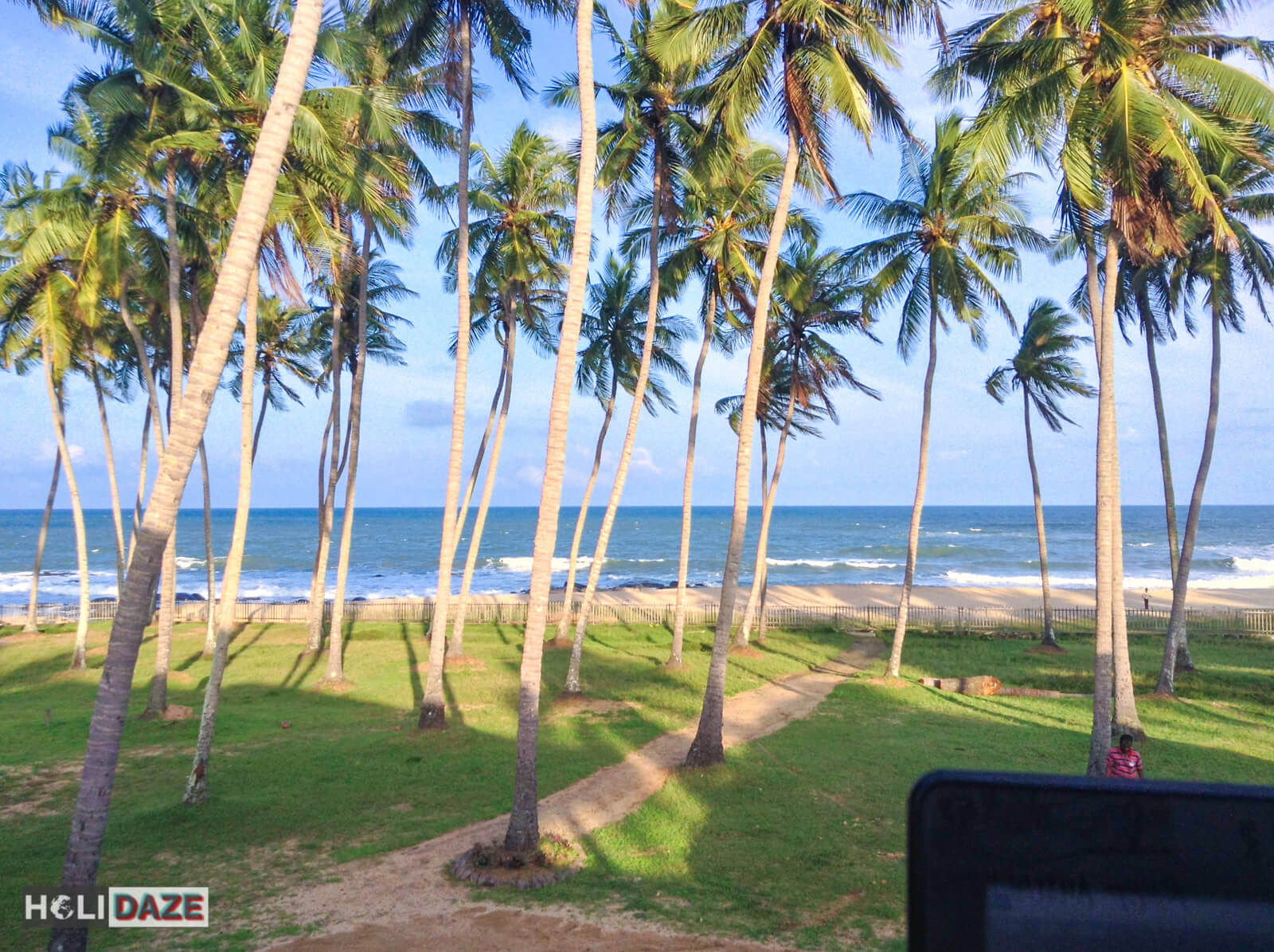 View from my private villa in Arugam Bay, Sri Lanka