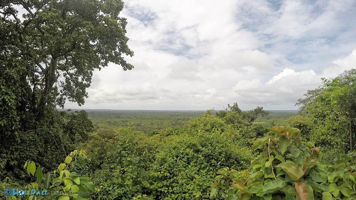 View from the top of Girihadu Seya in Trincomalee, Sri Lanka
