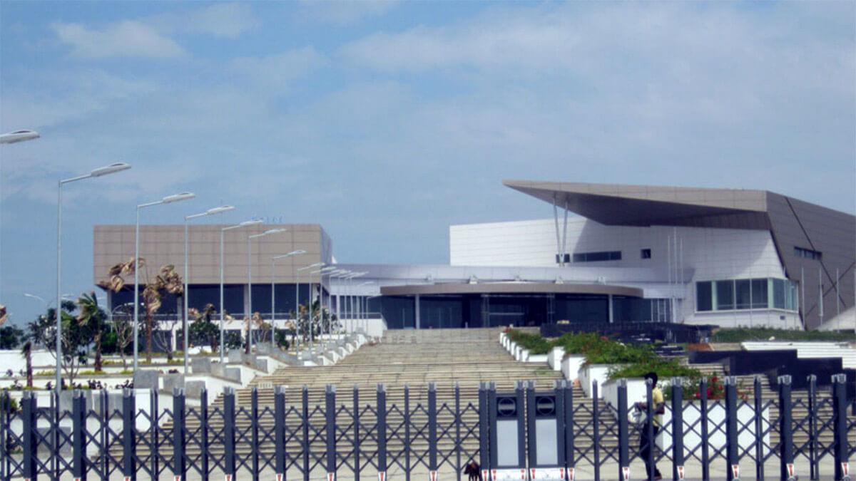 The new Hambantota International Convention Centre