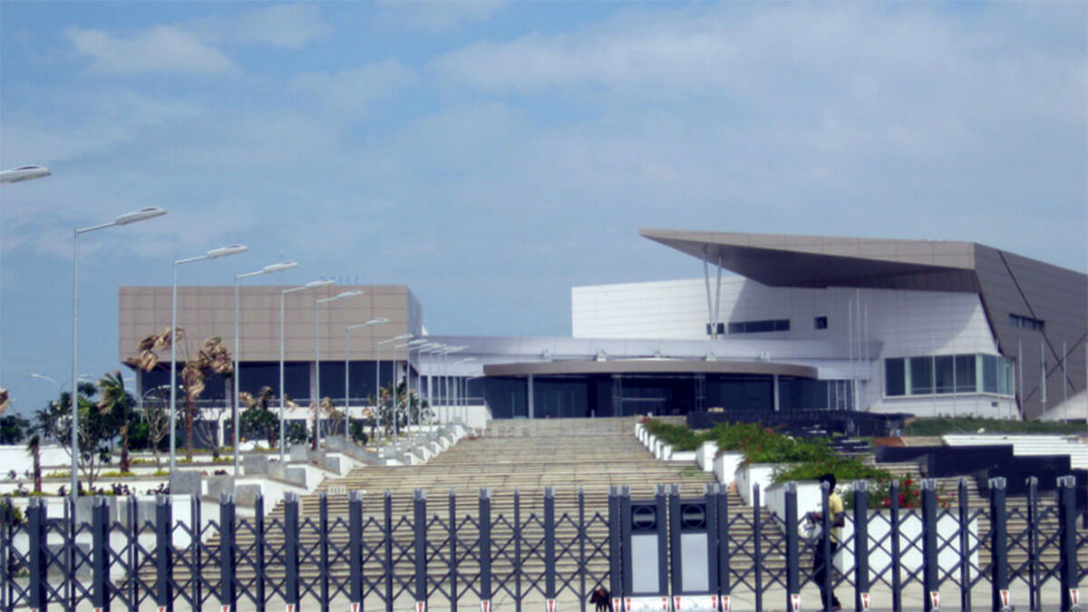 The new Hambantota International Convention Centre